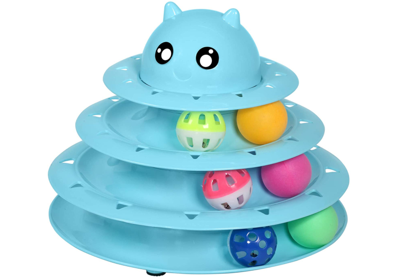cat toy roller tower