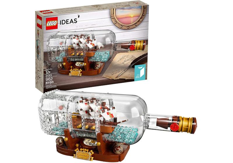 lego ship in bottle