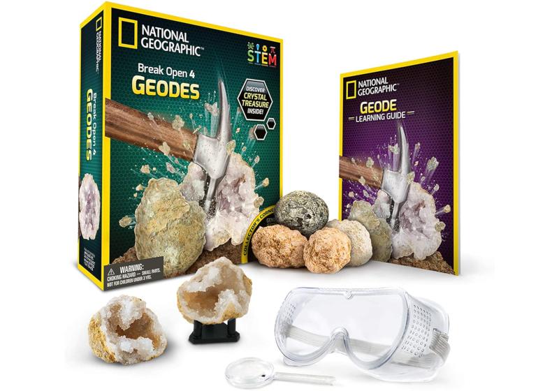 break open geodes science kit