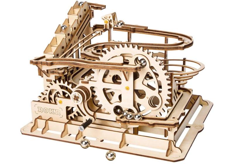 wooden waterwheel coaster