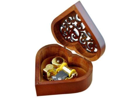 heart shaped musical box